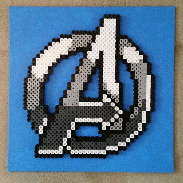 Avengers Logo Perler Pixel Art By Bigheadpixelart