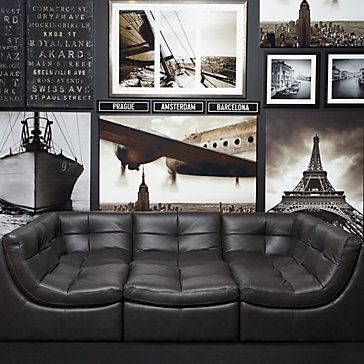 Cloud Modular Sectional   Grey   5 PC Sectional With Chaise