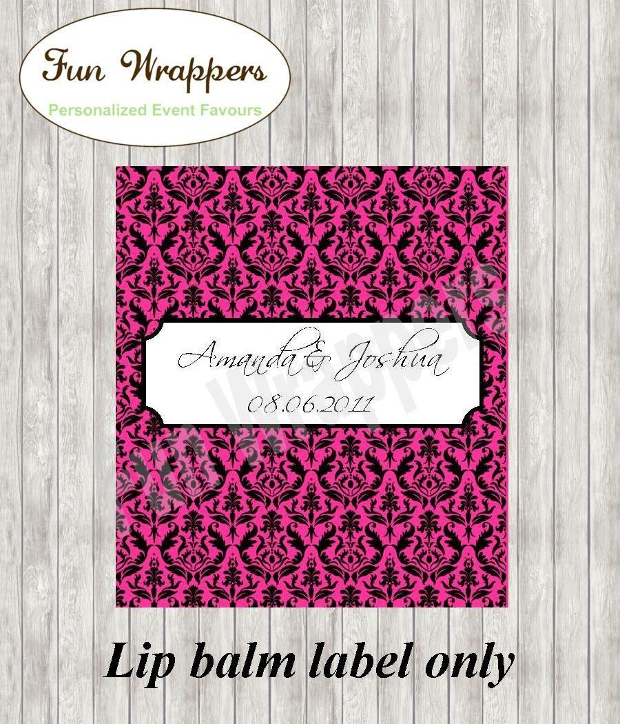 Damask Lip Balm label | Damask Chapstick | Damask Wedding | Damask ...
