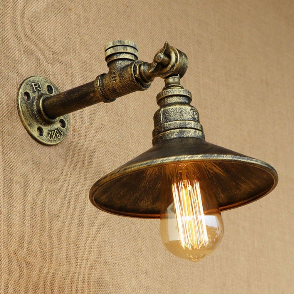 Fuloon Vintage Industrial Wrought Iron Wall Sconce Edison Lamp ...