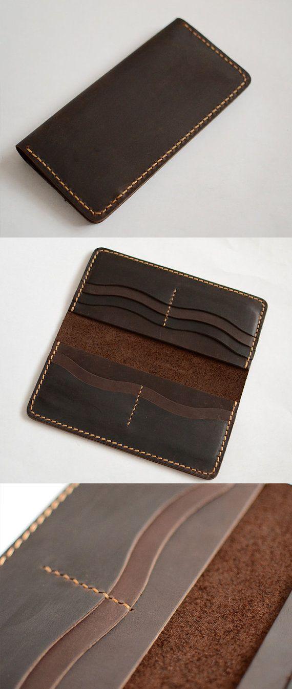 a73494b05 Cartera hecha a mano para hombre cartera mano coser por Yesterwish ...