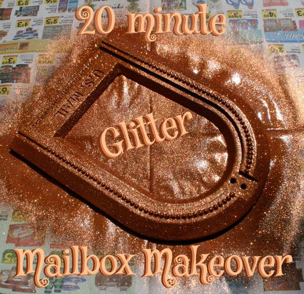 Take something boring and spray it with Glitter! On The Rag Mag.