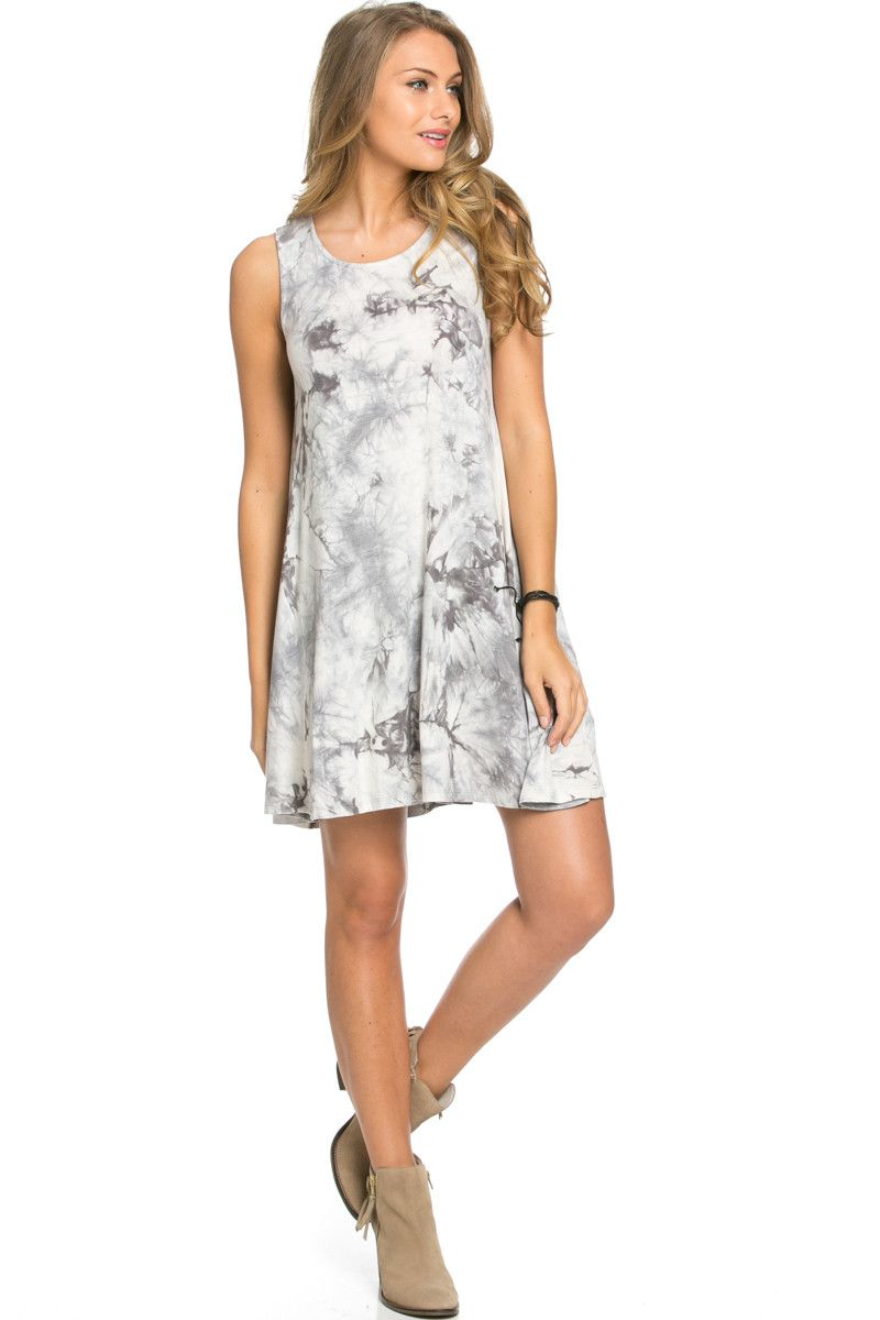 Wishlist tie dye swing dress grey and ivory gift list pinterest