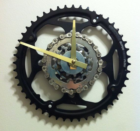 Wall Clock made from Recycled Bike Gears and by DreamGreatDreams