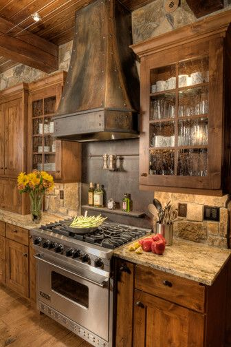 Image By Terra Firma Custom Homes Rustic Kitchen Log Home