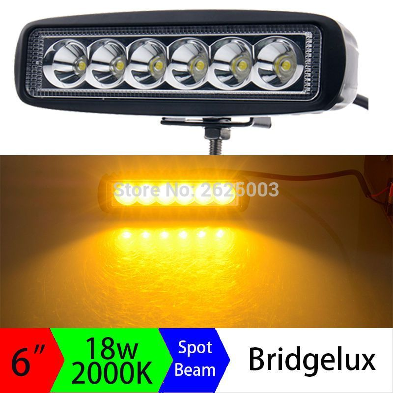 On sale us 2340 2pcs 12v 18w 6inch amber led light bar yellow led on sale us 2340 2pcs 12v 18w 6inch amber led light bar yellow led driving work aloadofball Image collections