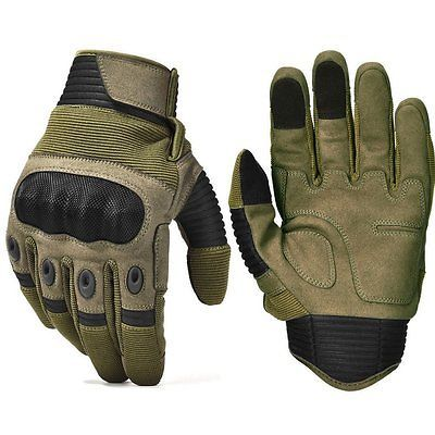 REEBOW TACTICAL Army Military Hard Knuckle Tactical Combat Full Finger  Gloves M 1aa0367fdfb