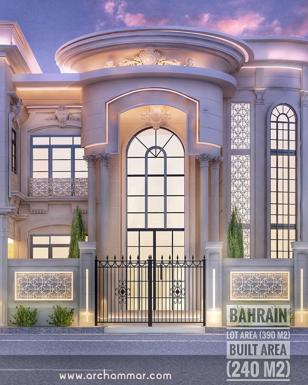 واجهة فيلا موقع المخطط البحرين البرنامج المستخدم 3d Max Photoshop للاستفسار 013 585 6668 ل House Elevation House Styles Appartment