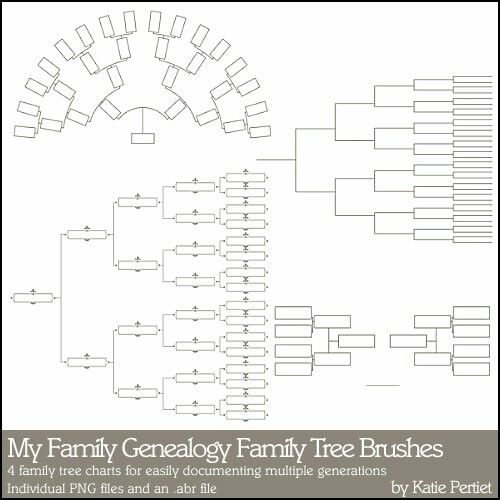 4 Heritage family ancestry tree charts for easily documenting your - 3 gen family tree template