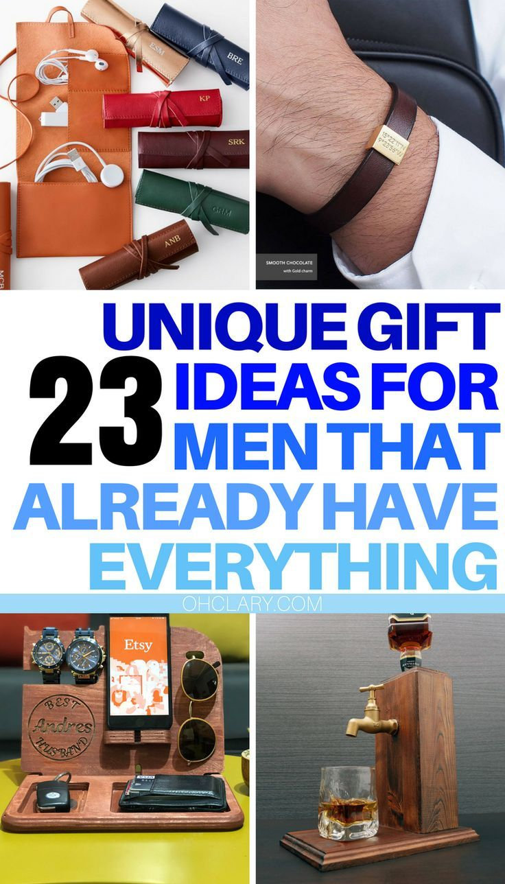 24 unique gift ideas for men who have everything 2019