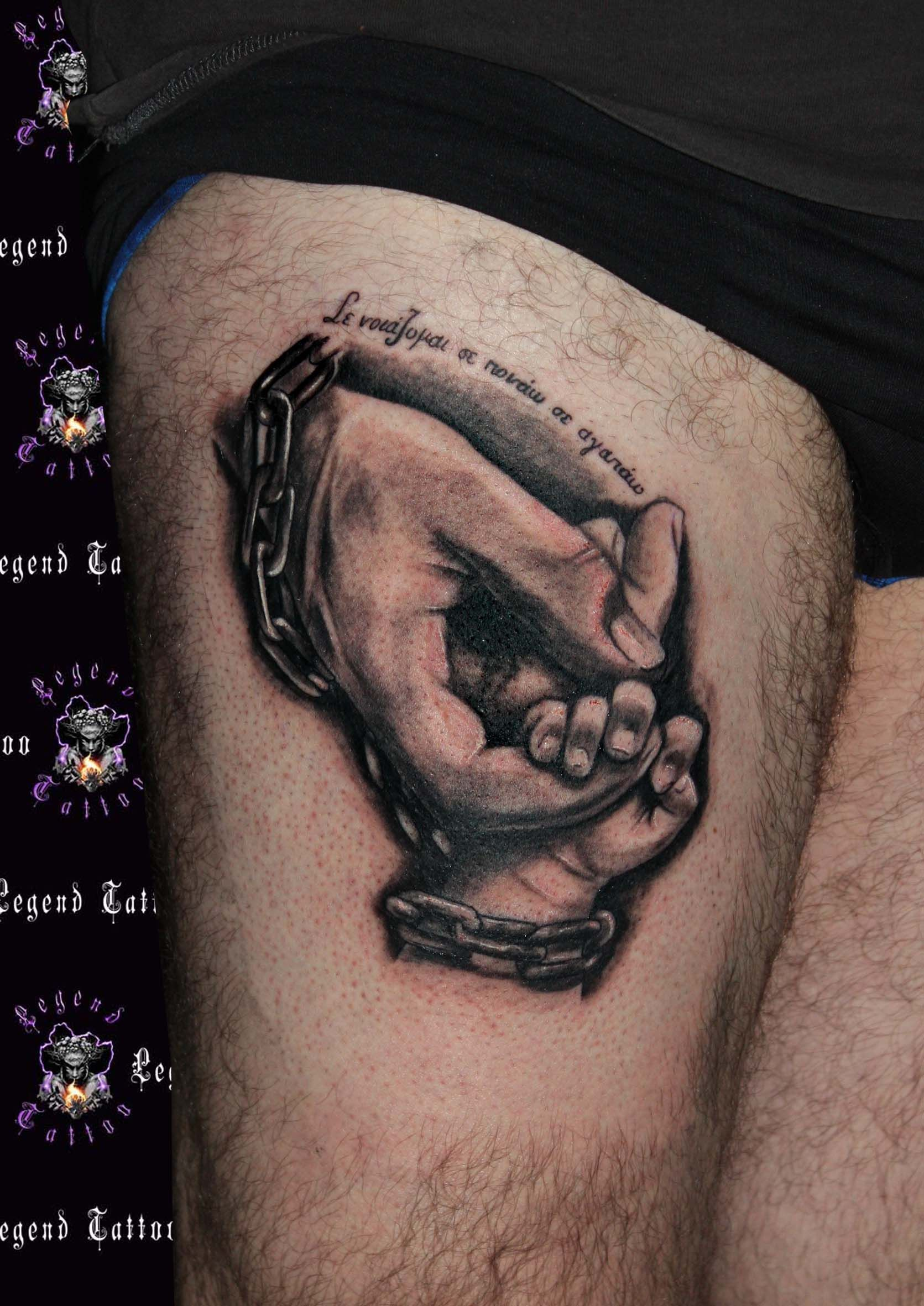 Hands Tattoo Wwwlegendtattoogr Realistic Hands Tattoo