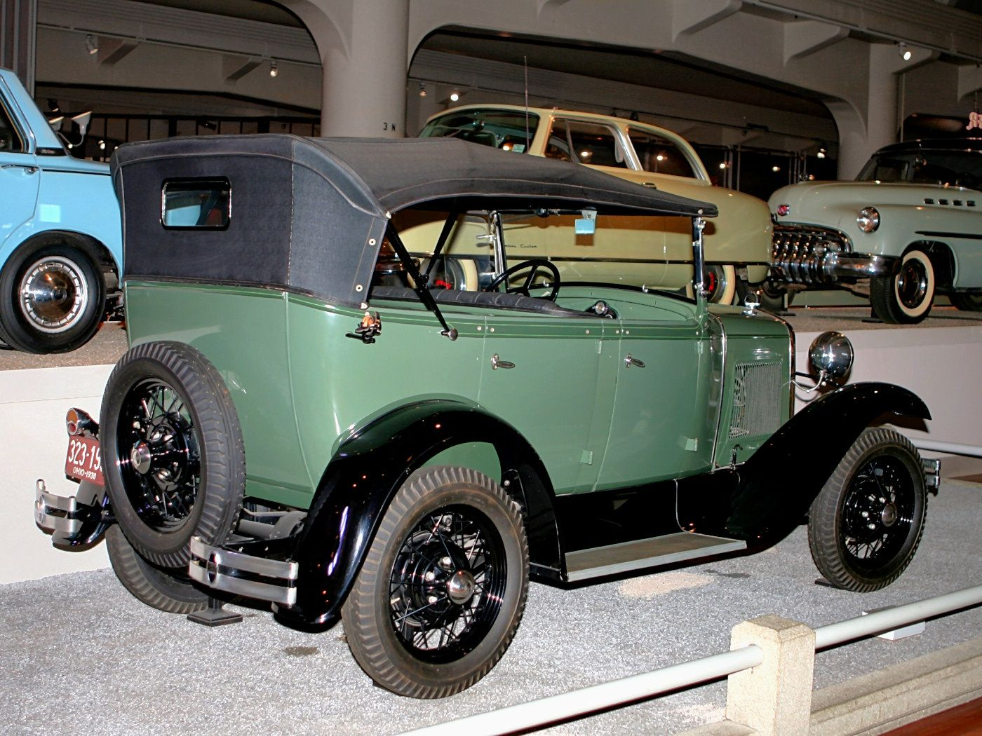 Cars 1930 Ford Model A Phaeton Green Rvr H Ford Museum Cl Ford Models Old Classic Cars Ford
