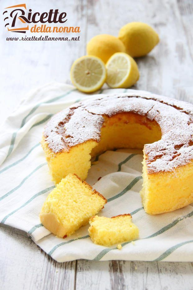 Ciambellone Al Limone Recept Sweets Sweet Cakes Cake Bars A