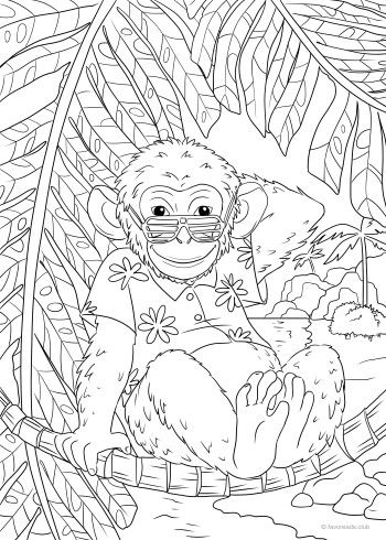 monkey  unicorn coloring pages printable adult coloring pages coloring book pages