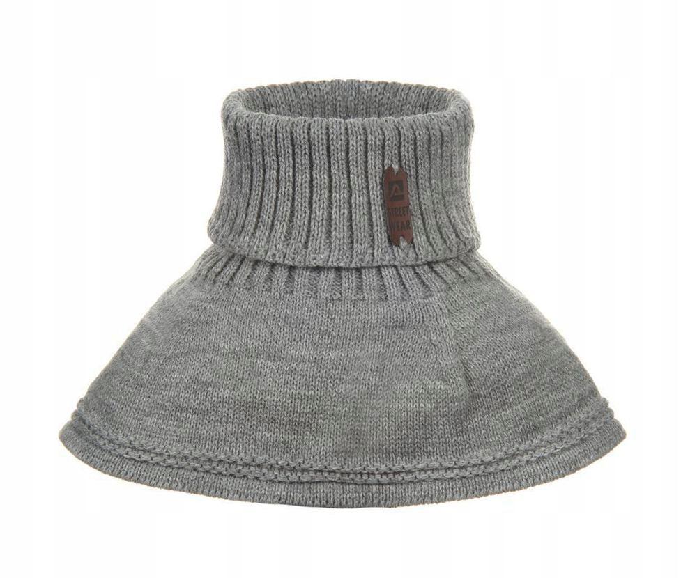 1szt Szary Szalik Golf Komin Dzieciecy Szaliki Fashion Hats Visor