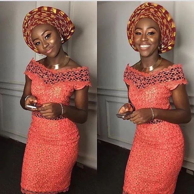 Latest Lace Short Gown Styles In Nigeria