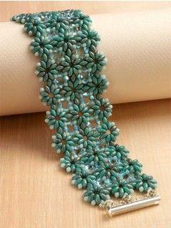 Succulent Garden Bracelet - Digital Products - Beading | InterweaveStore.com