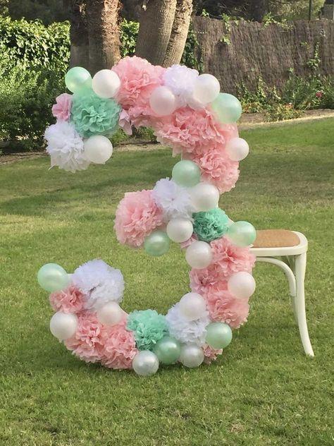 DIY Número XL decorado para Photocall #fiestade15años