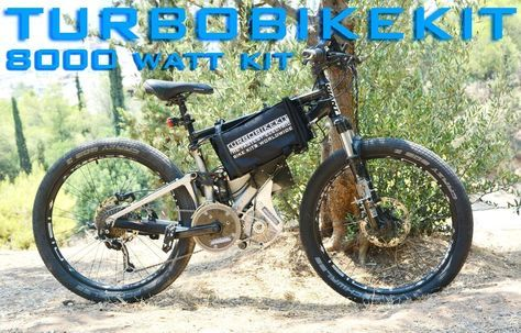 Silent High Torque 8000watt 8kw electric ebike kit 48volt