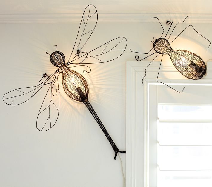 Bug Wall Lights Form Pottery Barn Cute Dragonfly For