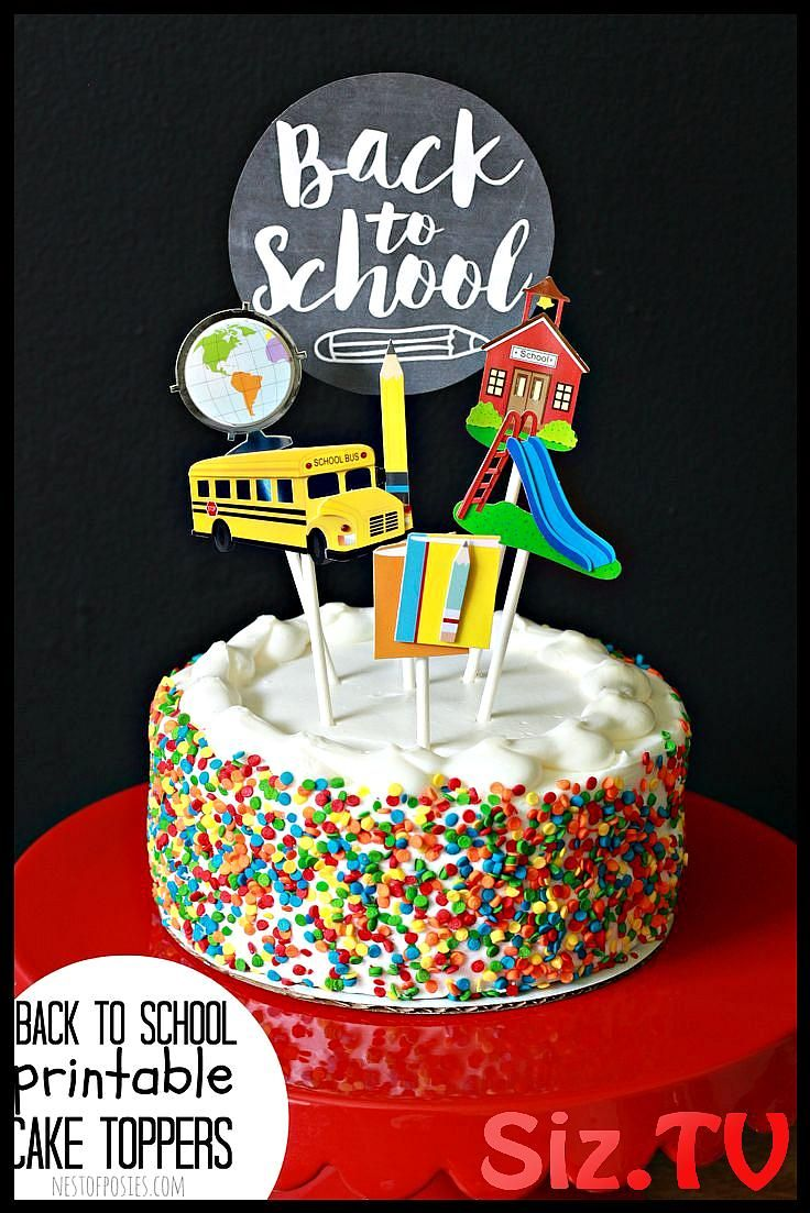 Cake Topper for Back to School Celebrate the first week of