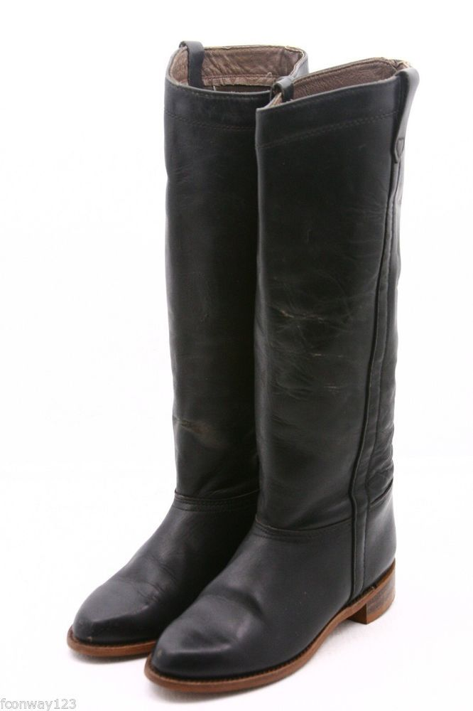 6c26f02bf866 Dexter knee high riding equestrian boots womens shoes size 6.5 B Vintage  leather