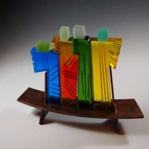 Reza Pishgahi is a glass artist from Bloomington, Indiana. I met him and his beautiful wife yesterday.
