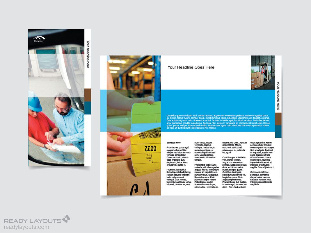 Cool Marketing Brochure Templates Set   Marketing Brochure