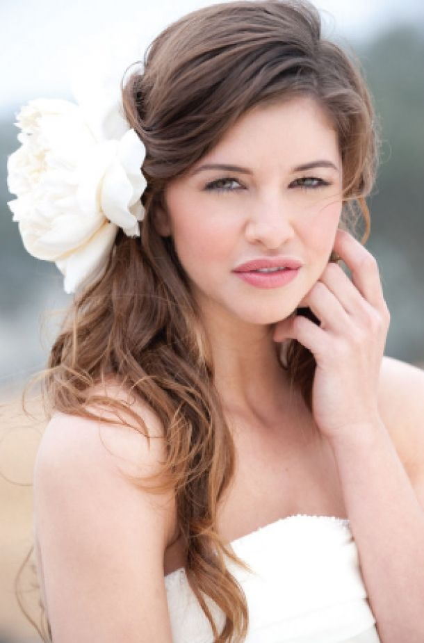 Wedding hair down curly with veil : BRIDAL HAIRSTYLES bridalhairstylesforlon Bridal Hairstyles for