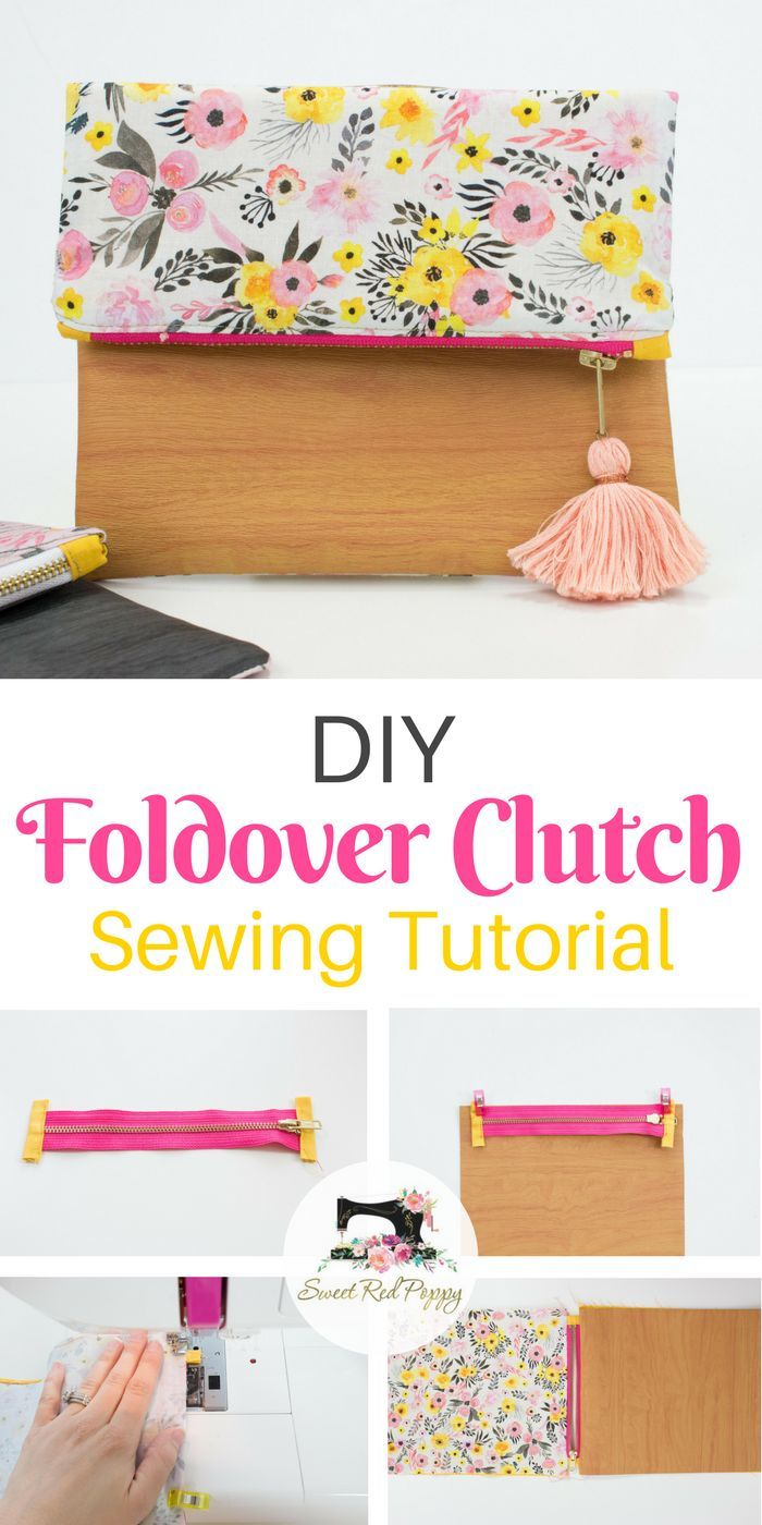 Foldover Zippered Clutch Sewing Tutorial #sewingprojects