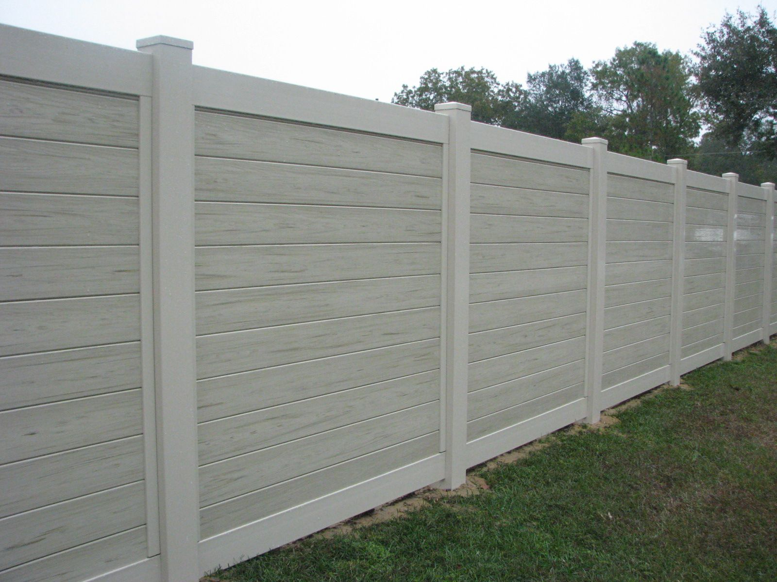 Custom Vinyl Fence By Mossy Oak Fence Horizontal Panels