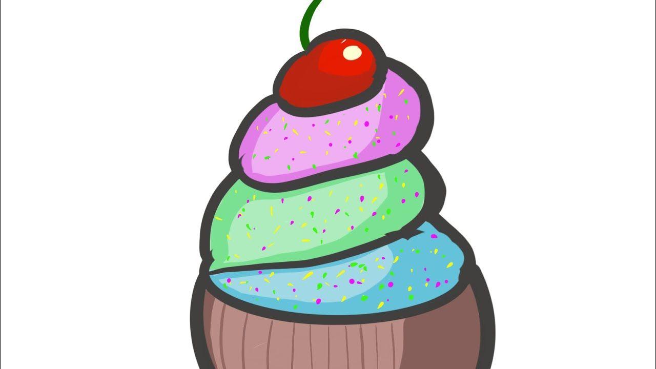 Speed Pint Draw Ice Cream In 5 Minutes رسم ايس كريم بشكل كرتوني في 5 دقايق Youtube Draw Ice Cream Youtube Make It Yourself