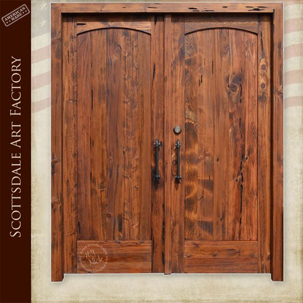 Exterior Double Doors Solid Wood Custom Door Manufacturer Ranch