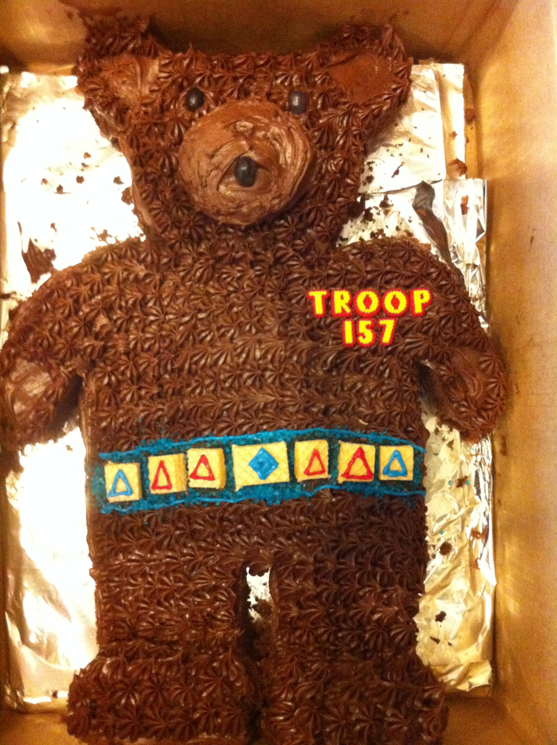 Cub Scout Bear Cake with beltloops Cub scout – Cub Scout Belt Loops Worksheets