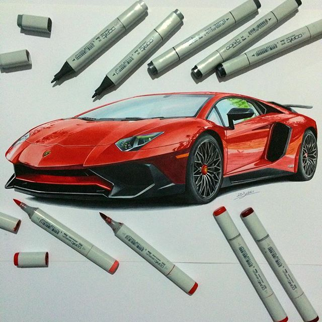 #Lamborghini #aventador #sv #lp750 #sketch #illustration