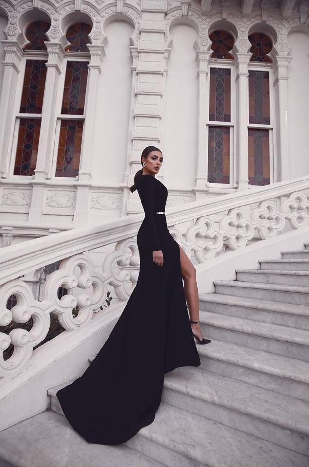Elegante Abendkleider Lang Schwarz   Abiballkleider Mit ...