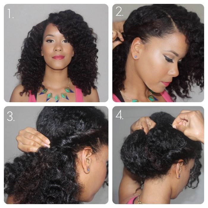 Natural Hair Spring Fling Wavy Low Chignon The Layer Natural Hair Updo Natural Hair Styles Natural Hair Tutorials