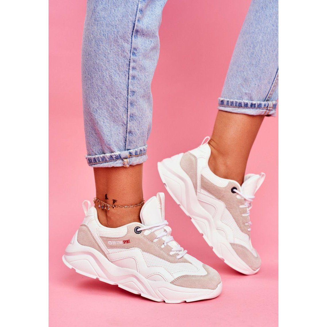 Damskie Sportowe Obuwie Sneakersy Big Star Biale Ff274958 Sneakers Nike Air Max Sneakers Shoes