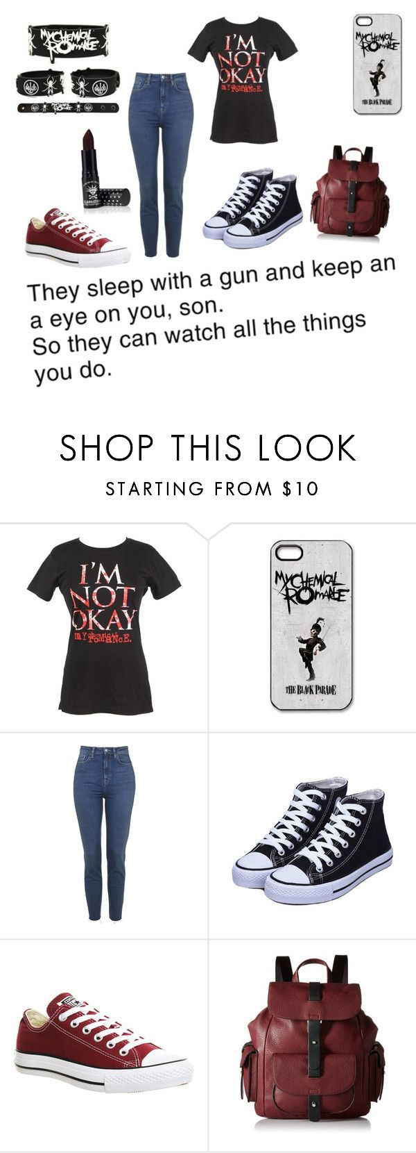 """""""My type of outfit really"""" by a-ms-winchester ❤ liked on Polyvore featuring Converse, Kenneth Cole Reaction and Manic Panic"""