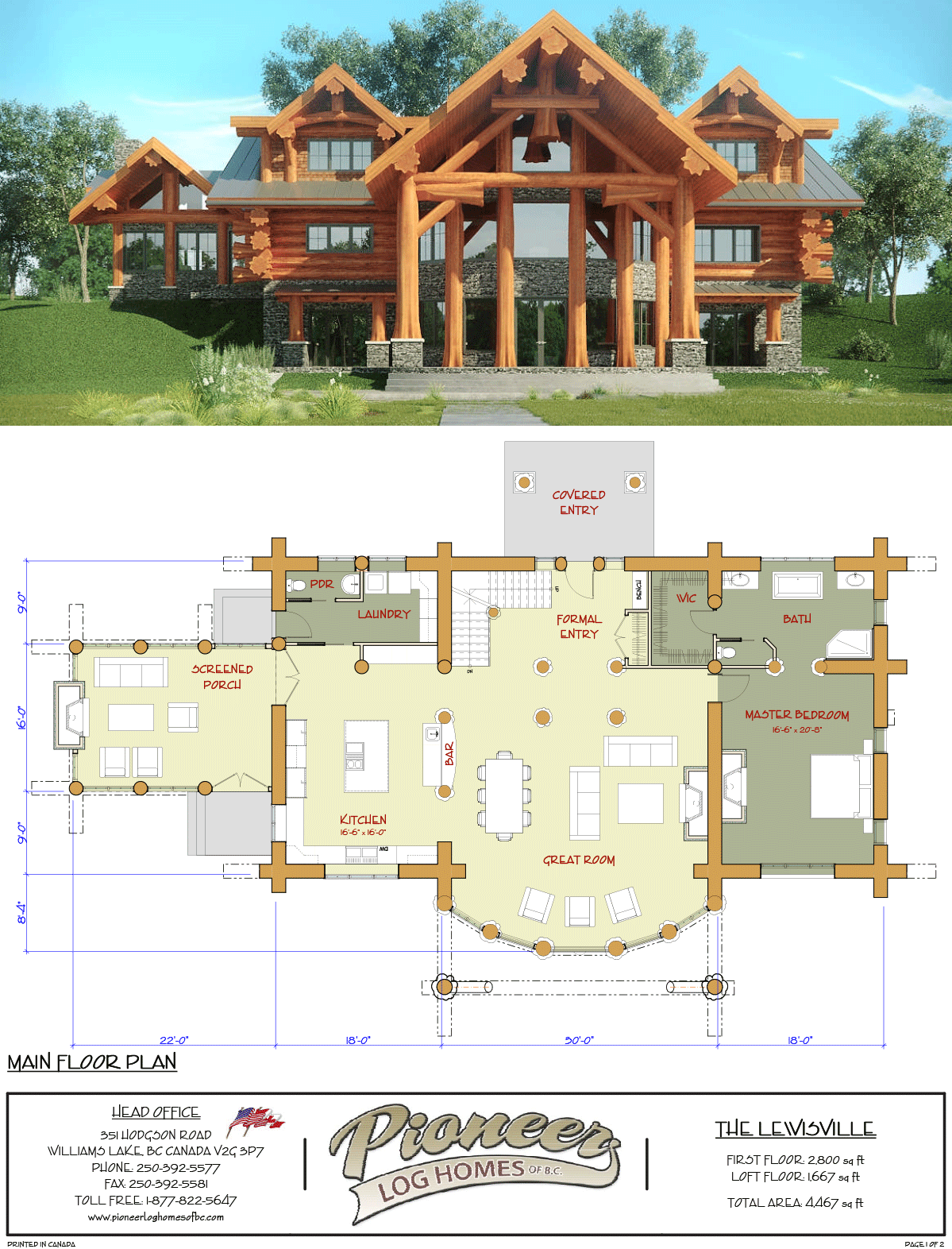 Lewisville Pioneer Log Homes Midwest Log Homes Exterior Log Home Floor Plans Log Cabin Floor Plans