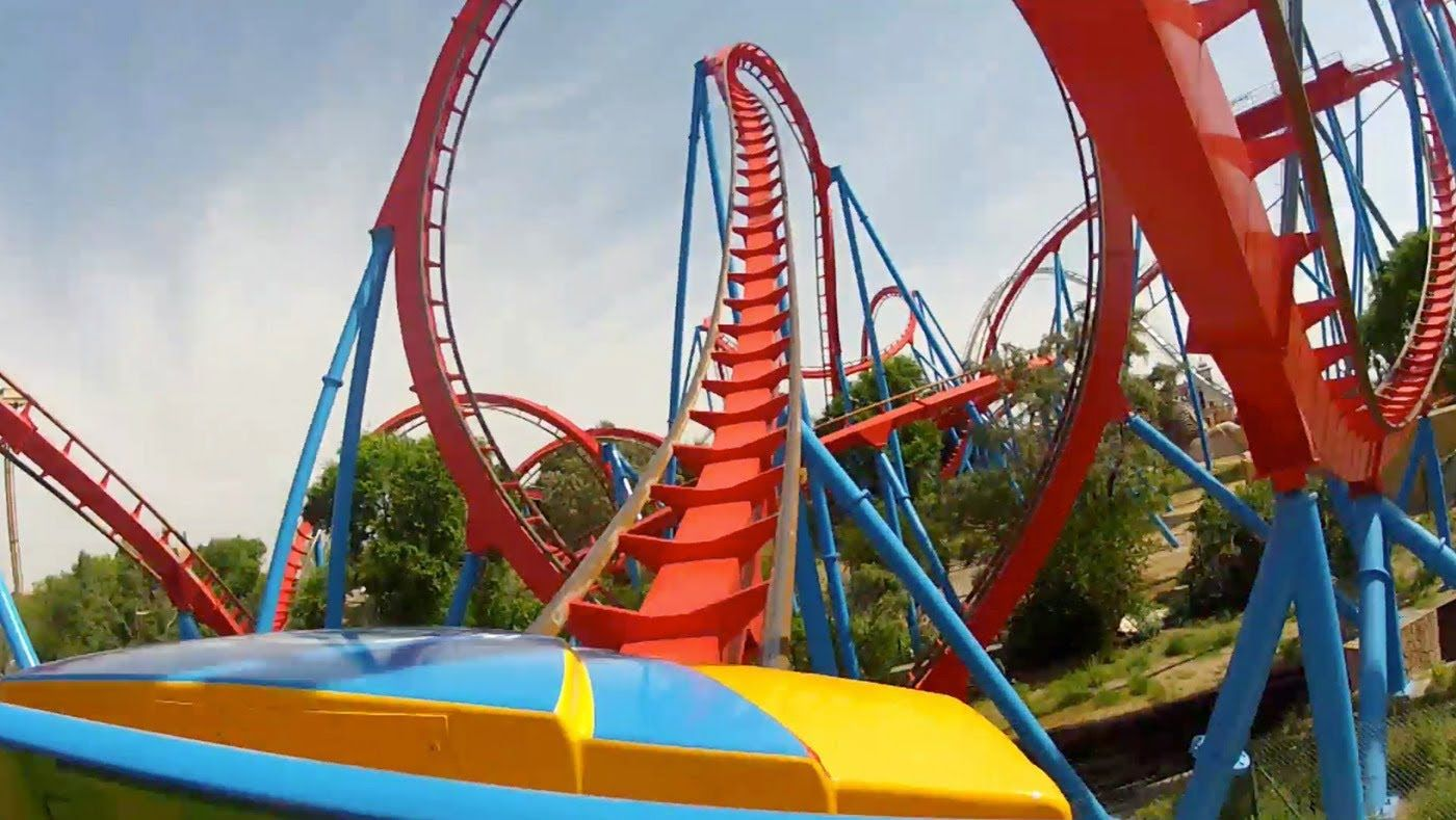 Dragon Khan Roller Coaster Pov Front Seat View From Portaventura Spain 1080p Hd Roller Coaster Seat View Pov