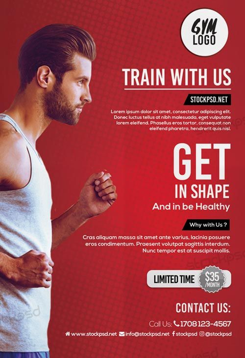 Running Fitness Gym Free Flyer Template - http\/\/freepsdflyer - fitness flyer template