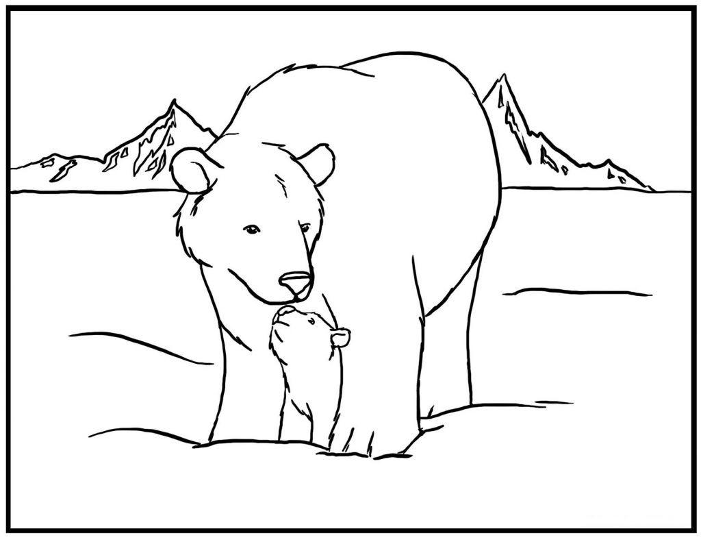 Polar Bear Coloring Pages Free | Teaching | Pinterest | Polar bear