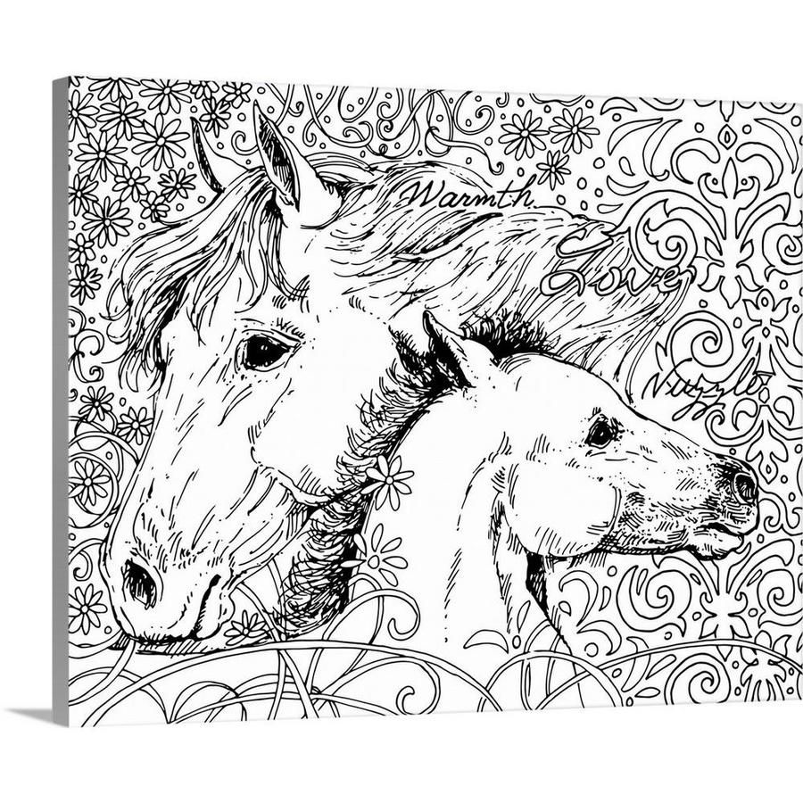 Greatbigcanvas Mama Horse By Susan Winget Canv 16 In H X 20 In W Abstract Print On Canvas Lowes Com In 2021 Horse Coloring Pages Abstract Canvas Painting Coloring Canvas [ 900 x 900 Pixel ]