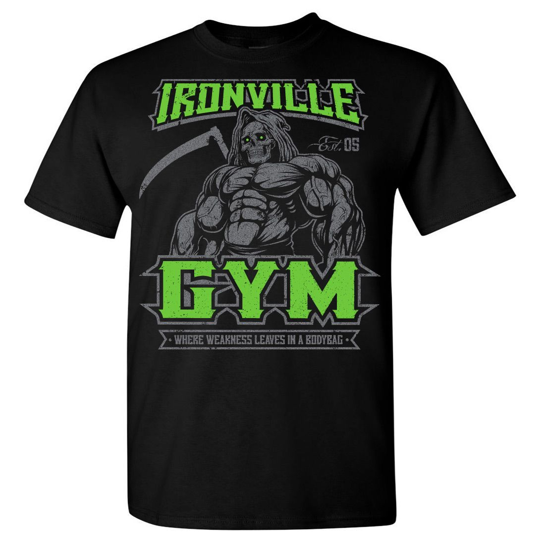 Ironville Gym Reaper Weightlifting TShirt Ironville