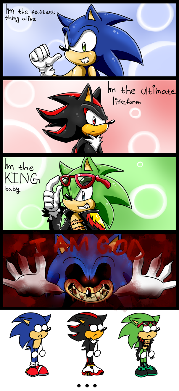 Sonic Stupid Mini Comic By Kyuubi83256 Sonic Funny Sonic