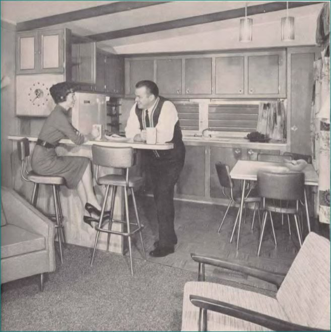 Great Mobile Home Kitchens From 1955 To 1960