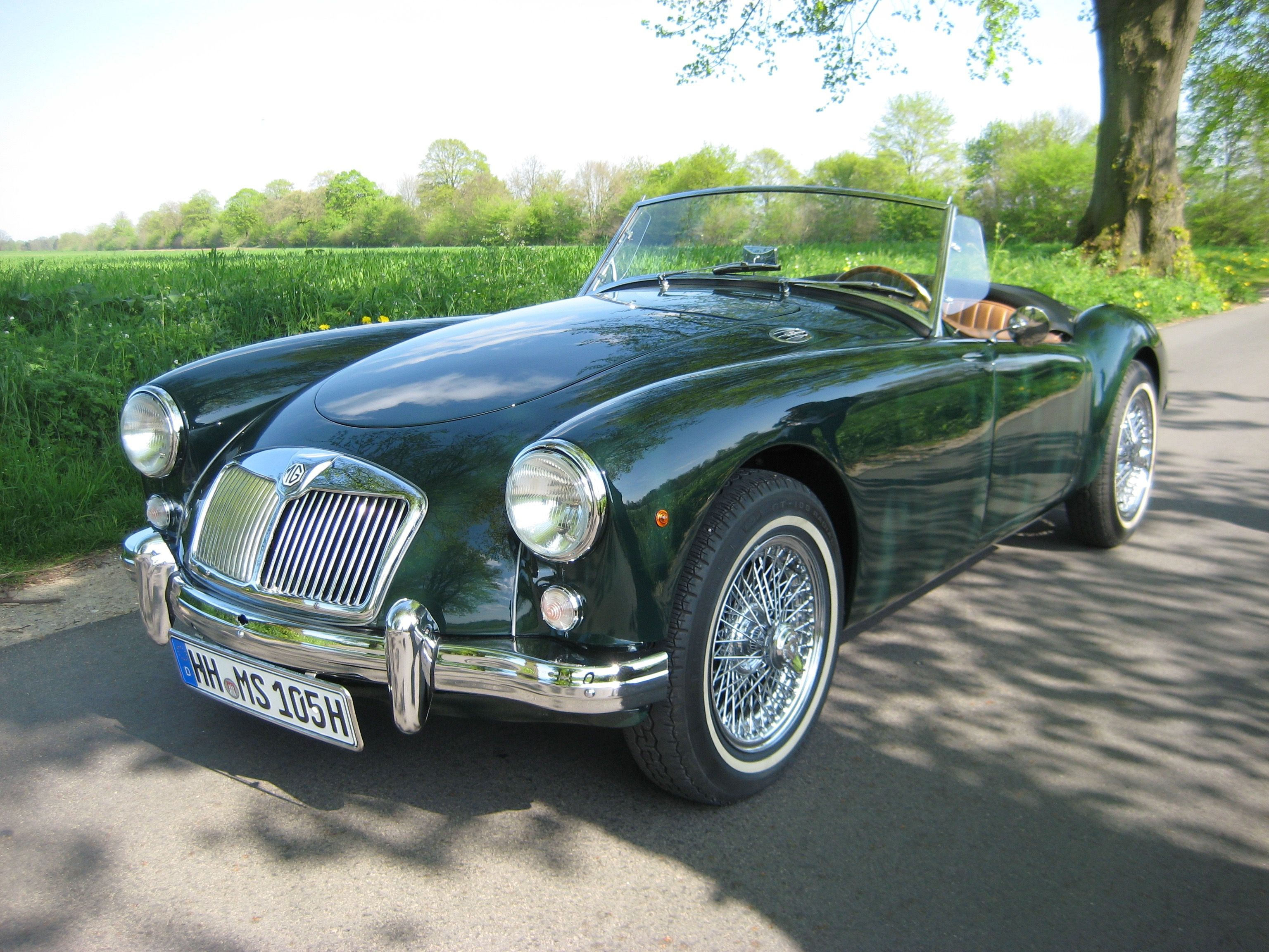 MGA 1500 British Racing Green 1957 | MG Clásicos | Pinterest ...