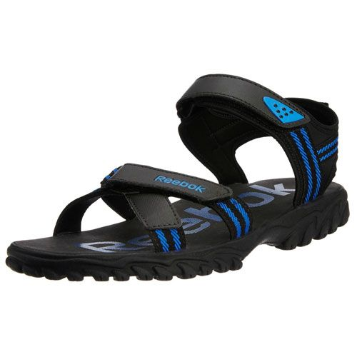 d753a3f74 Price Rs.1079 - Buy Reebok Men s Road Connect Black and Blue Sandals and Floaters  online at discount price in India on Findabhi.com.