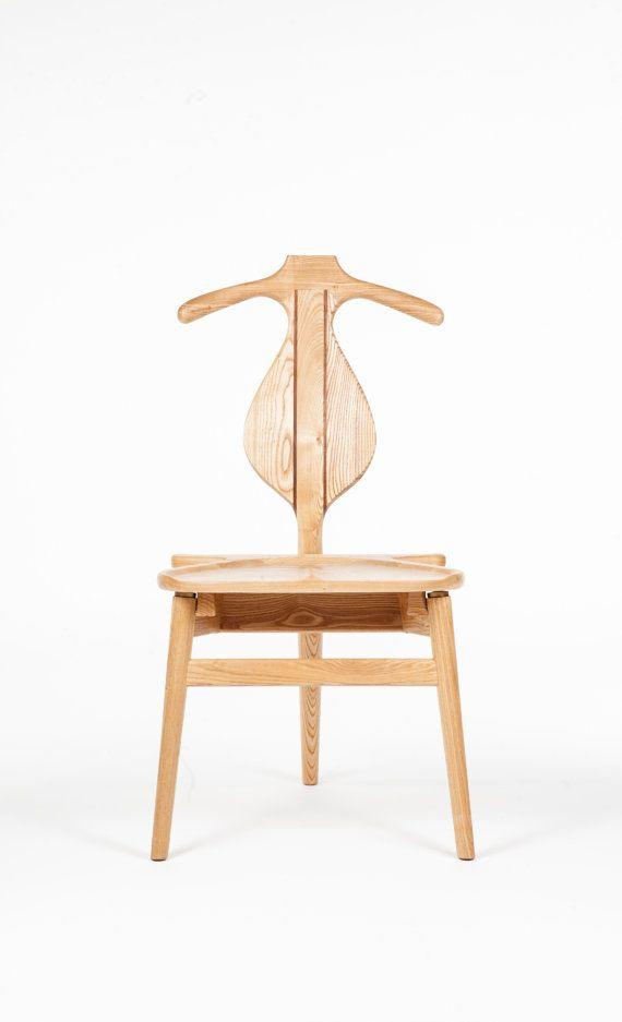 Hans Wegner Style Valet Chair Danish Modern Mid By Moderneicon